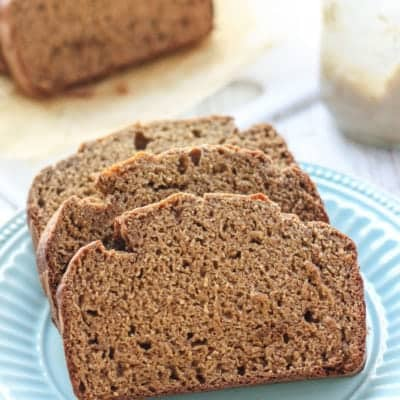 Healthy Whole Wheat Banana Bread [low fat, dairy-free]