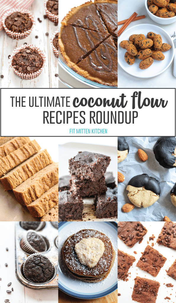 The Ultimate Coconut Flour Recipes Roundup! Featuring 28 different recipes using coconut flour.