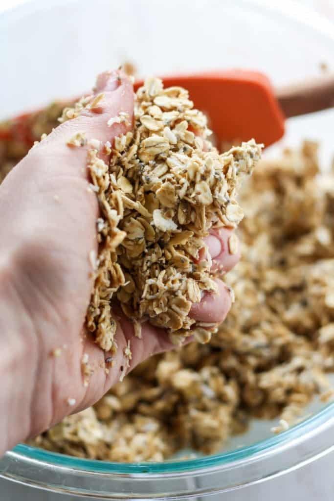 This easy, homemade Tropical Granola is vegan, gluten-free and the perfect topping to your morning bowl!