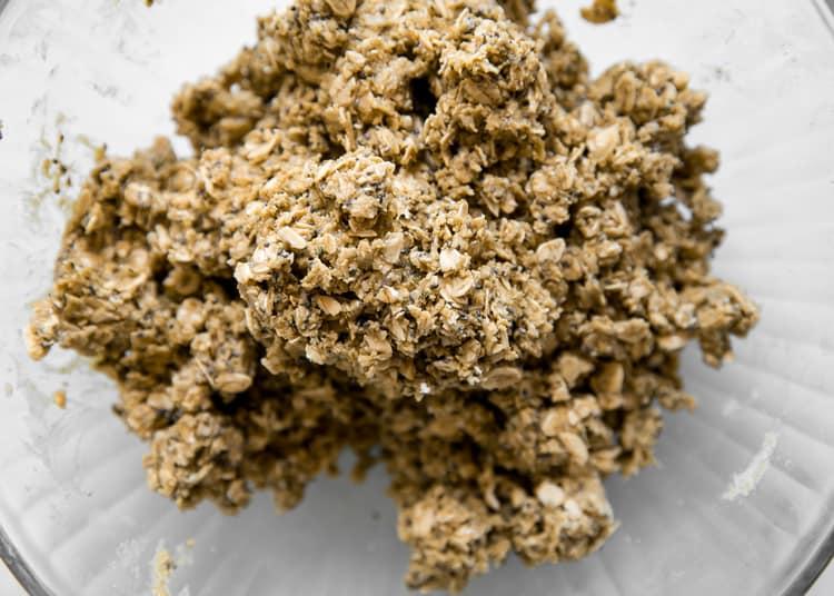 peanut butter oats mixture