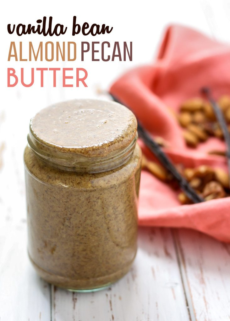 Vanilla Bean Almond Pecan Butter in a jar