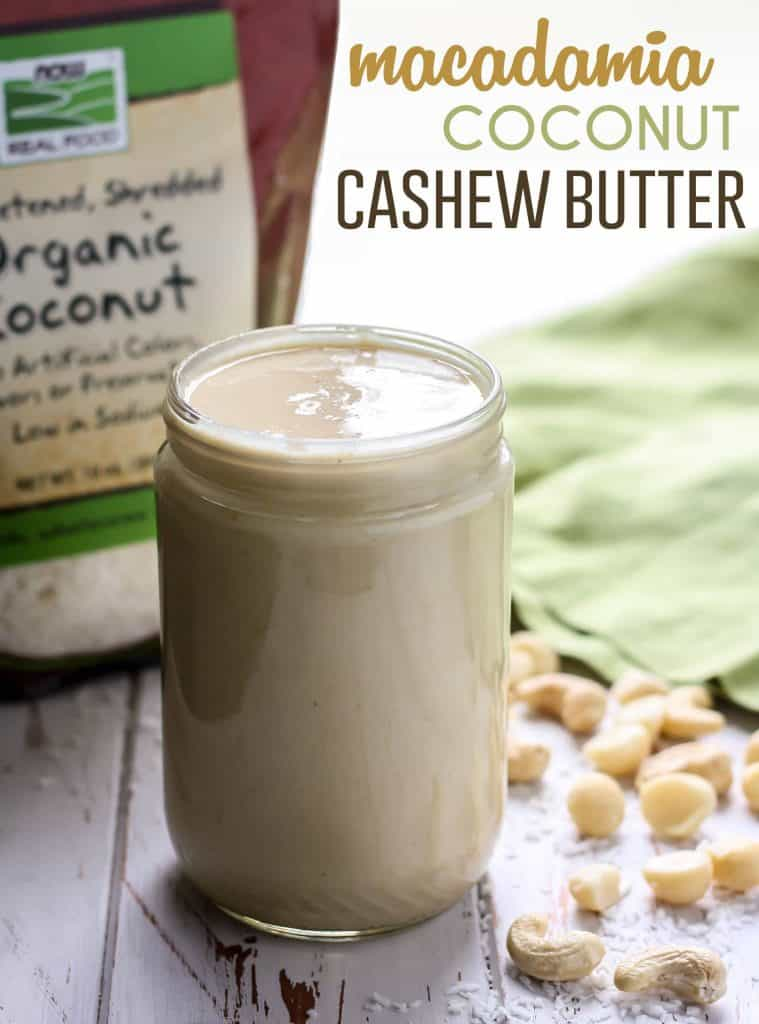 A to-die-for combination of nuts in this batch of Macadamia Coconut Cashew Butter that takes less than 10 minutes in your food processor. No sugar added, vegan and paleo-friendly!