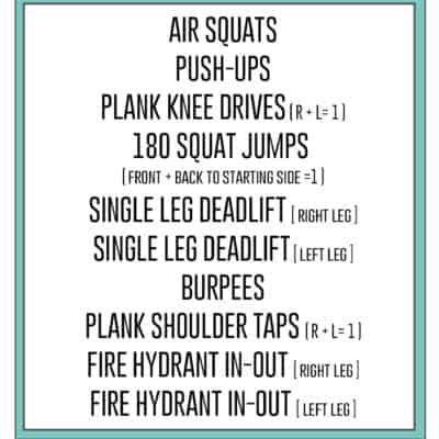 8 Minute Body Weight Workout