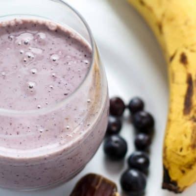 Ginger Blueberry Banana Date Smoothie [ on Slim Sanity! ]