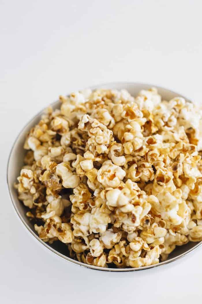Homemade Healthy Salted Caramel Popcorn