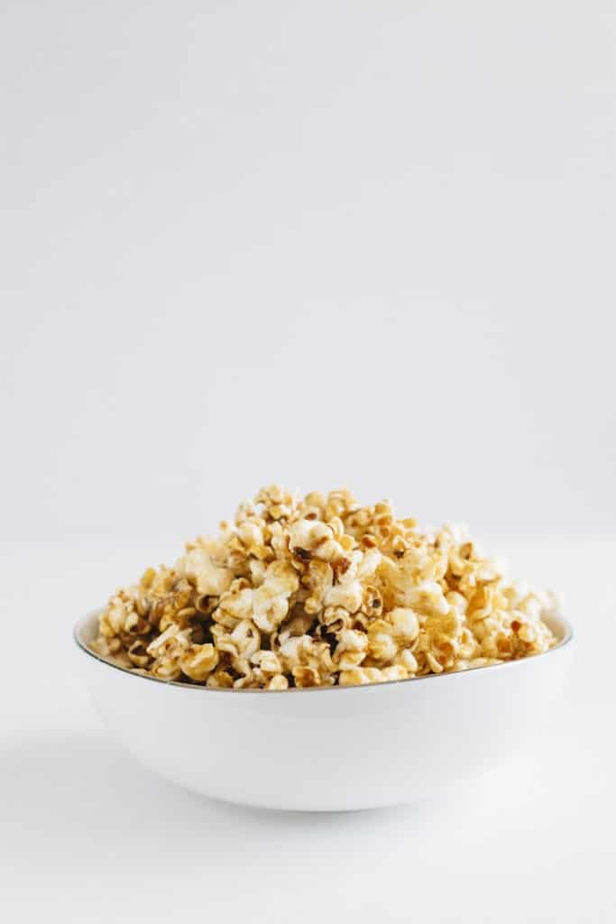 Healthy Salted Caramel Popcorn, recipe by The Almond Eater