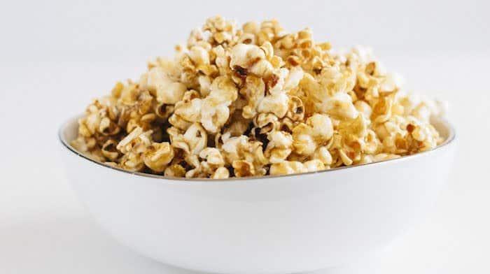 Homemade Healthy Salted Caramel Popcorn • Fit Mitten Kitchen
