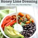 Southwest Quinoa Power Bowl with Creamy Honey Lime Dressing