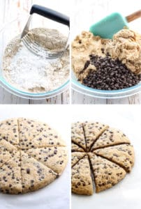 Vegan Whole Wheat Chocolate Chip Scones come together quick and easy!