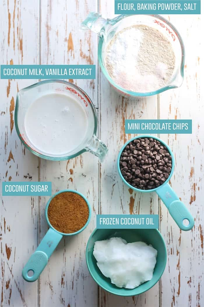 Ingredients for Vegan Whole Wheat Chocolate Chip Scones