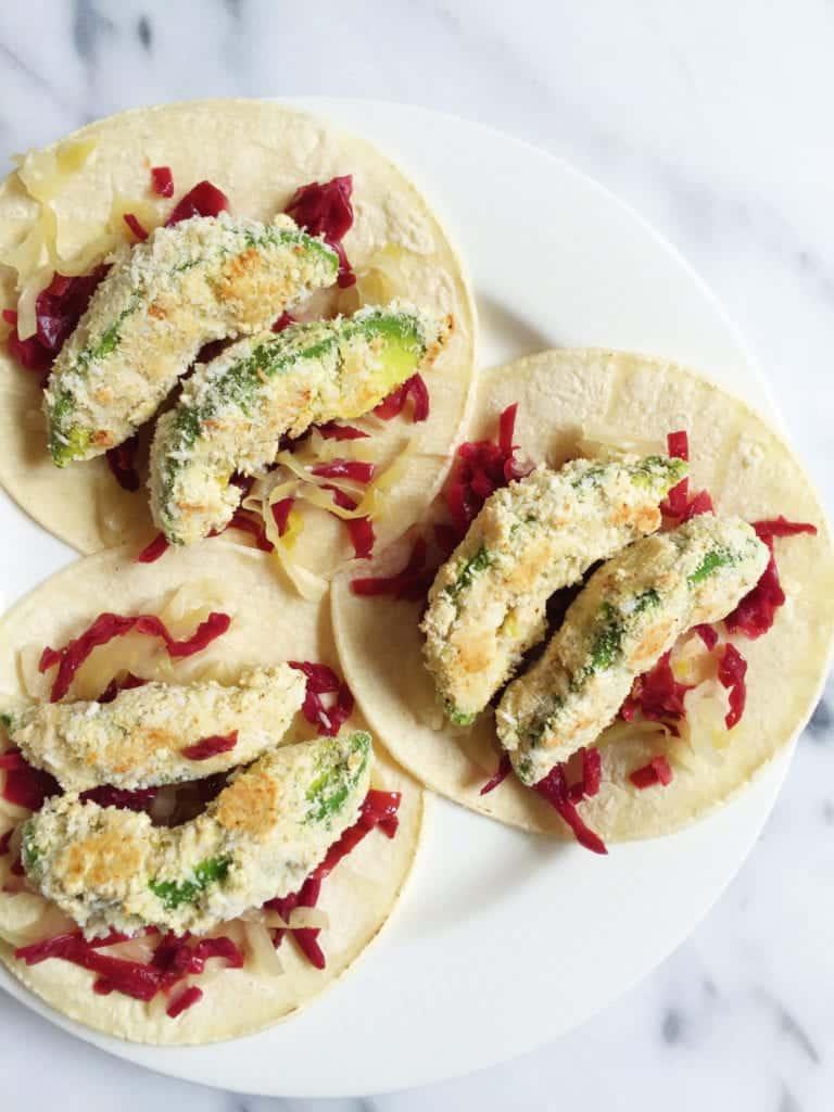 Crispy Baked Avocado Tacos - rachLmansfield
