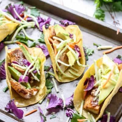 Easy Blackened Mahi Mahi Fish Tacos [ + 5 more creative recipes for your next taco party! ]