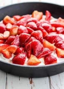 Strawberry Shortcake made healthier with coconut flour and coconut cream. Paleo-friendly!