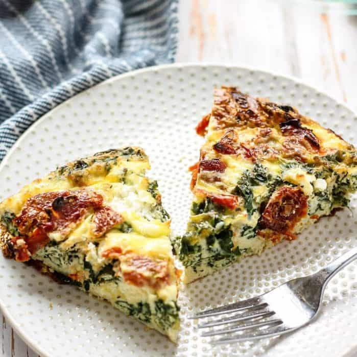 Sun-dried Kale & Goat Cheese Egg Bake