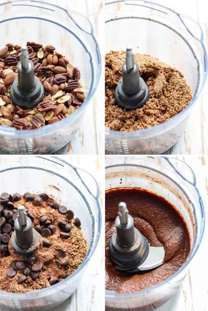 Double Chocolate Pecan Butter step by step in food processor