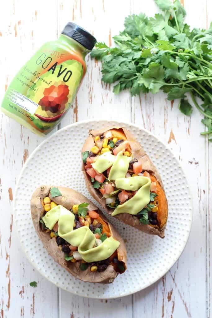 Easy, gluten-free, and vegan Mexican Stuffed Sweet Potatoes