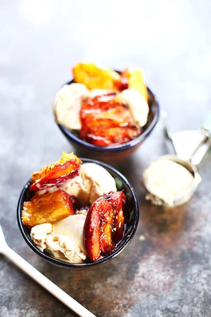 Grilled Peaches and Ice Cream -- In it 4 the Long Run