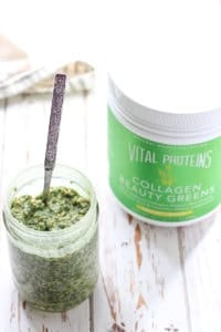 Beauty Greens Overnight Oats with Collagen for healthy skin!