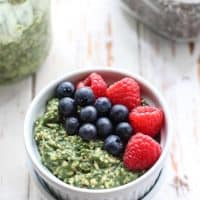 Beauty Greens Overnight Oats with collagen for healthy, glowing skin!