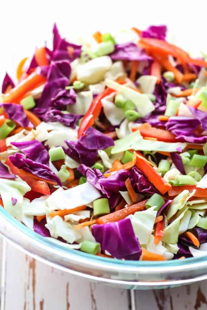 Thai Slaw with Cashew Curry Dressing