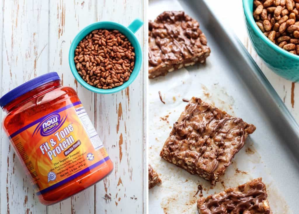 Mocha Cereal Protein Bars using NOW Sports Fit & Tone protein