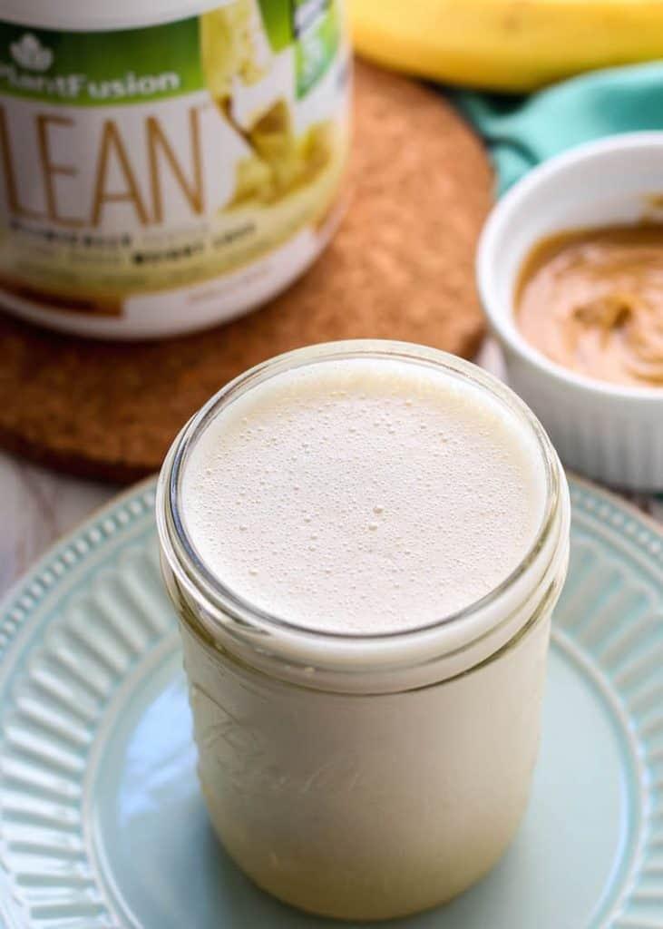 Super satisfying PlantFusion LEAN Vanilla Banana Shake