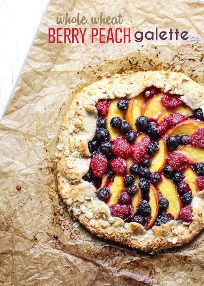 Berry Peach Galette-post pin