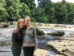 Pal and I at the falls in Yorkshire Dales