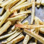 Seriously though, these garlic coconut oil parsnip fries are addicting!
