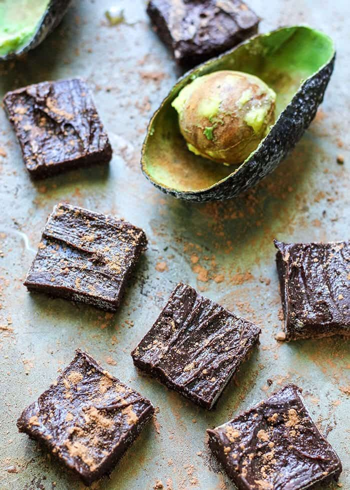 Paleo Chocolate Avocado Freezer Fudge. Just 5 ingredients!