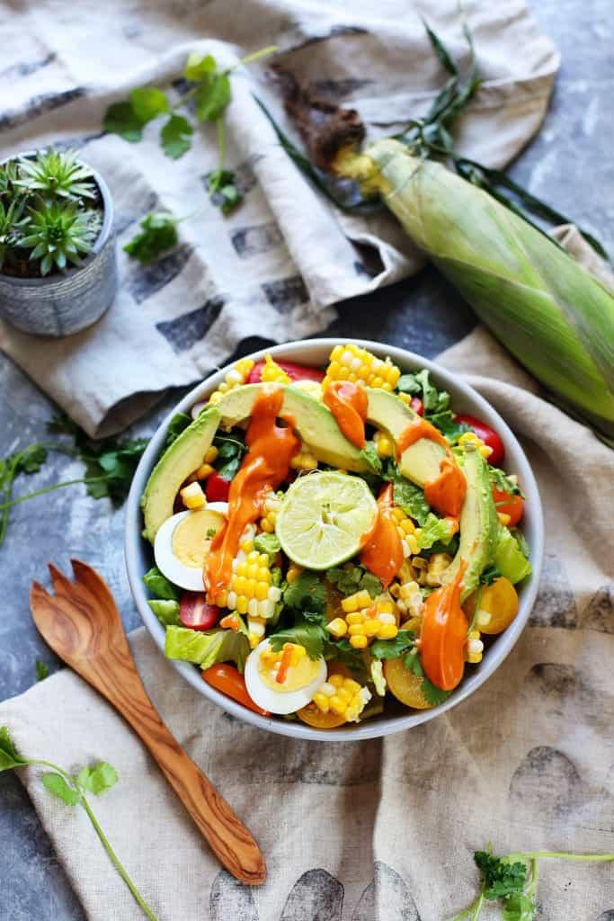 Southwestern Grilled Corn Salad [ summer salads ]