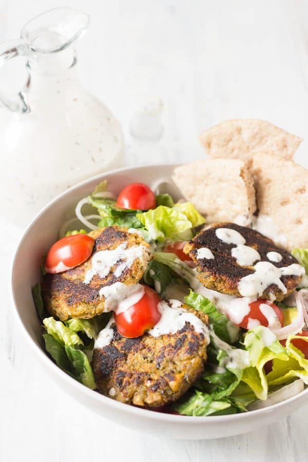 Spinach Almond Falafel Salad [ summer salads ]