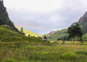 A rainbow at Steall Falls