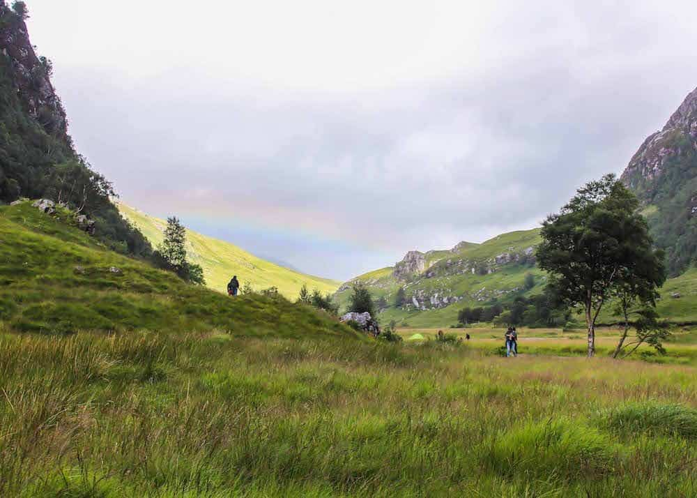 A rainbow at Steall Falls