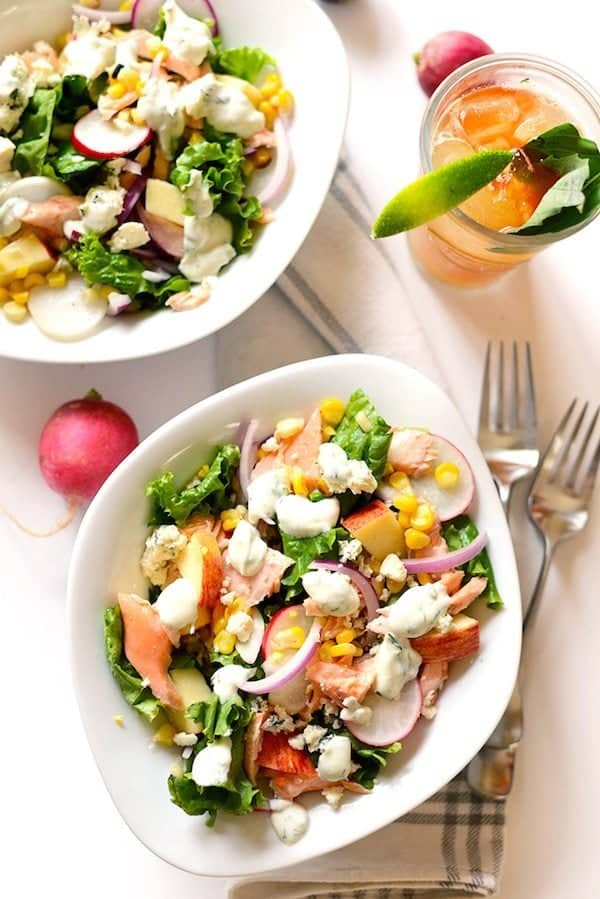 Chopped Salmon Salad [ summer salads ]