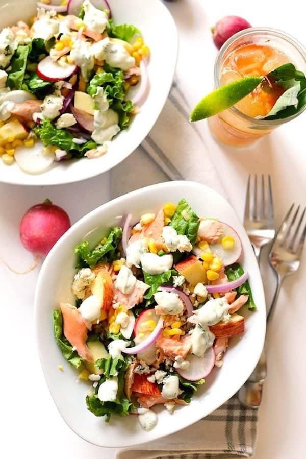 Chopped Salmon Salad [ summer salads ]