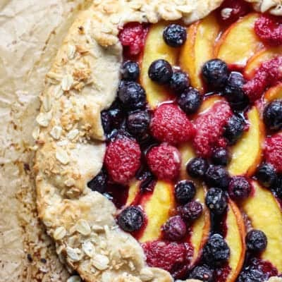 Whole Wheat Berry Peach Galette