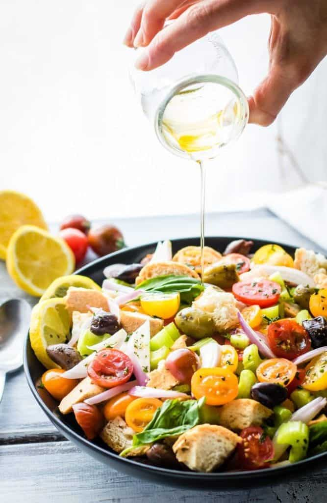 Gluten-Free Toasted Panzanella Salad [ summer salads ]