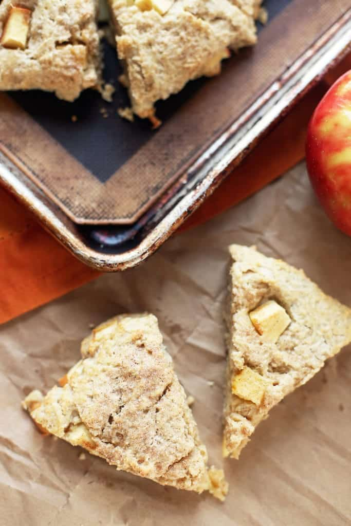 Cinnamon Honey Crisp Apple Scones - In It 4 the Long Run