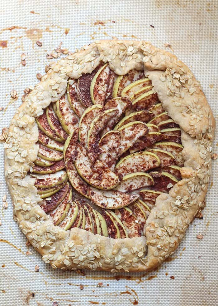 This Chai Spiced Apple Galette is perfect for any occasion. It's lower in sugar and made with a blend of traditional and healthier swaps for a lighter dessert with big flavor.