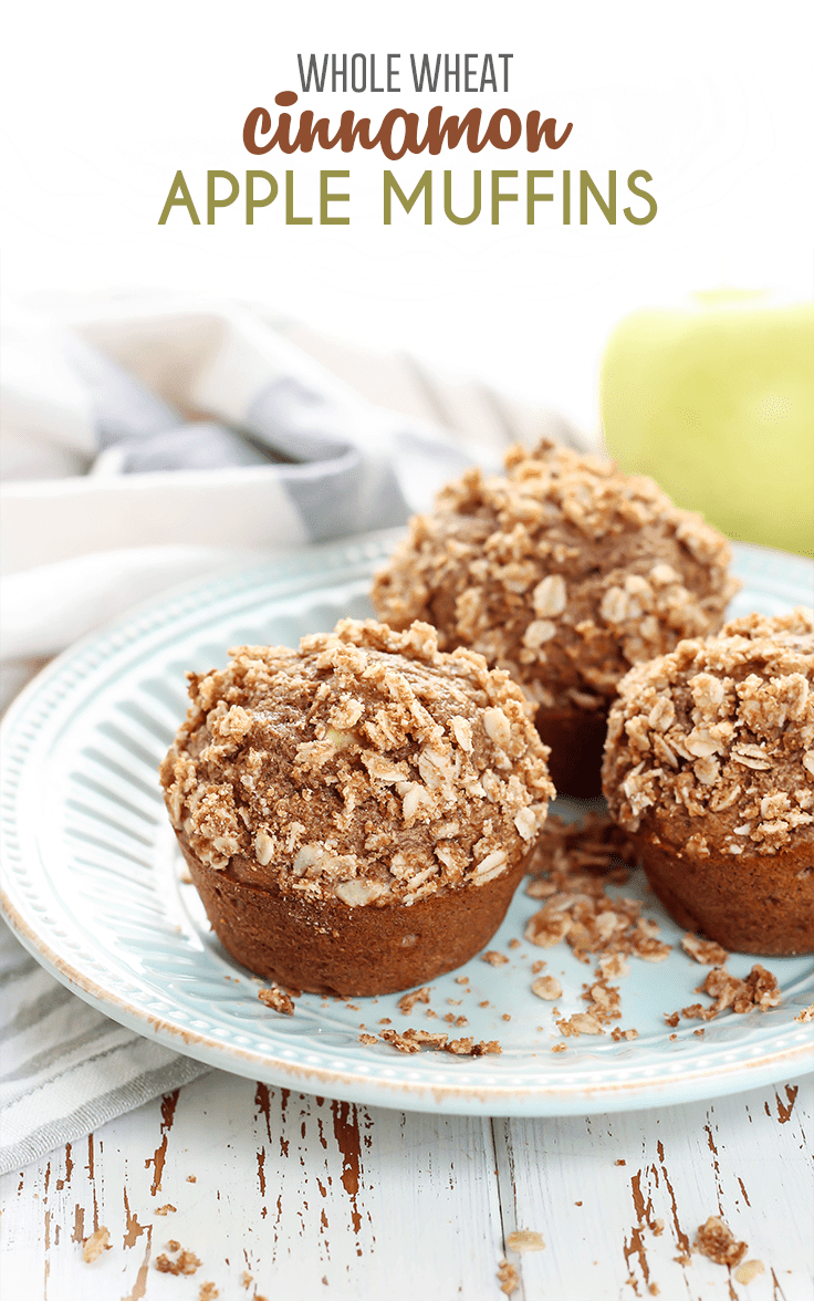 These Cinnamon Apple Muffins are bursting with so much flavor. Perfectly soft, moist, filled with apples and cinnamon, plus topped off with a delicious oat streusel. Made with whole grain flour, dairy-free, and free of refined sugars.