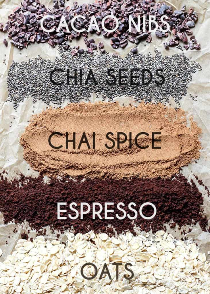 dirty chai energy ball ingredients