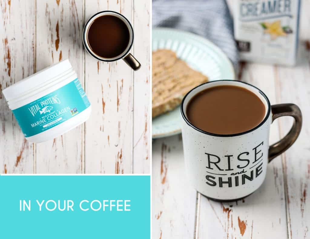 Everyday Easy Ways to Add Collagen to Your Diet. [ add a scoop into your coffee! ]