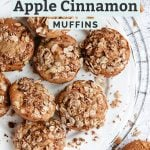 apple cinnamon muffins pinterest graphic