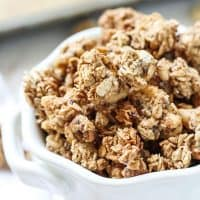 Maple Walnut Cinnamon Granola. Gluten-free, vegan and so easy! -This cinnamon granola seriously goes great with everything.
