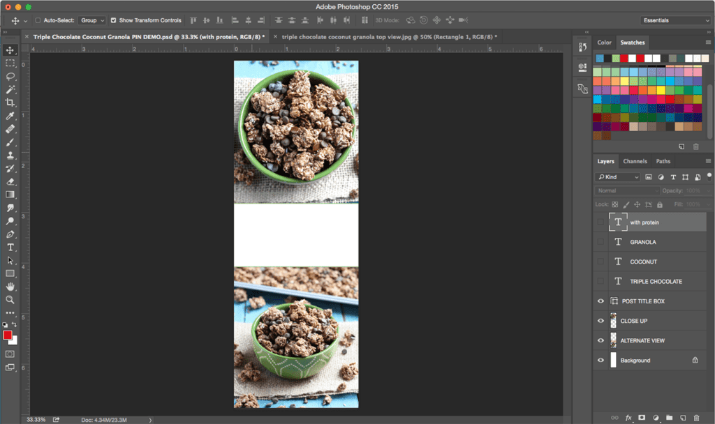 How to Create the Perfect Pin for Food Bloggers. || Select two different angles of your recipe photo to create the perfect pin for your food blog.