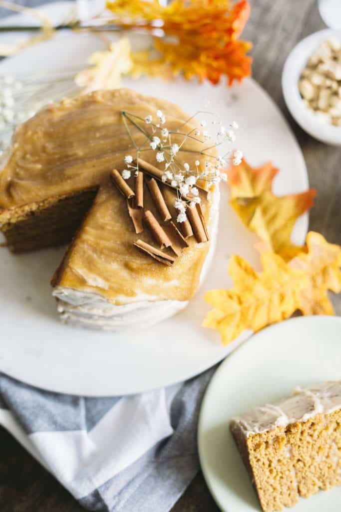 Vegan Pumpkin Cake - The Almond Eater