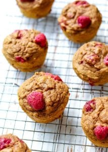 Whole Wheat Raspberry Pumpkin Muffins