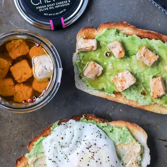 CHEVOO goat cheese avocado toast!