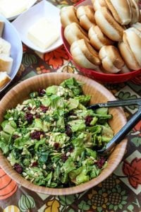 Kale & Romaine Cranberry Almond Salad for Thanksgiving in Canada at The Pinery.